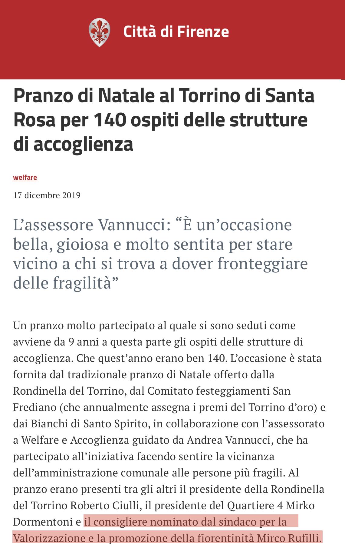 Pranzo sociale Torrino Firenze Mirco Dinamo